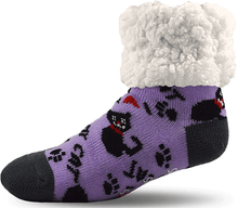Load image into Gallery viewer, Pudus Pet Socks for People - Purple - from Cat Supplies and More