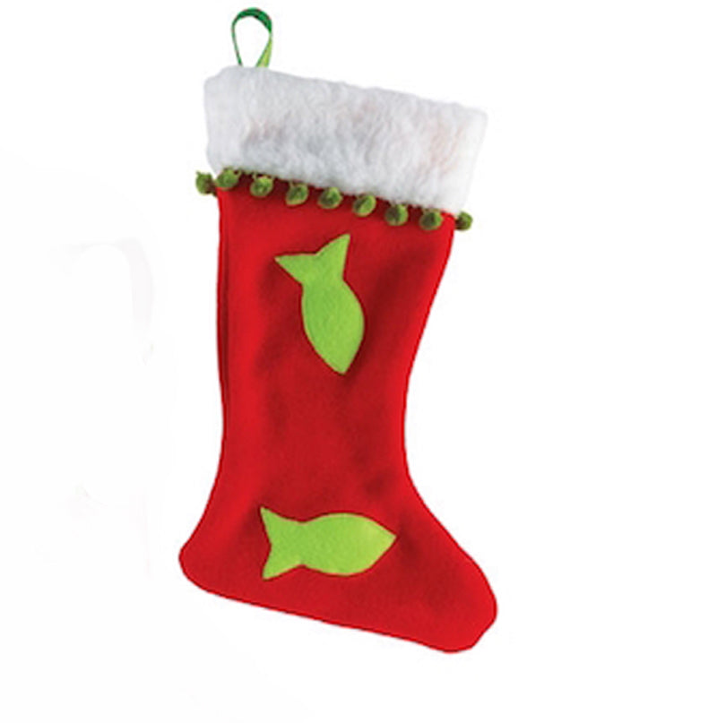 Christmas Fleece Stockings for the Kitties - PREORDER