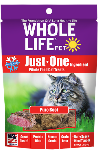 Whole Life Just One Beef Cat Treats 21oz