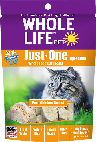 Whole Life Just One Chicken Cat Treats 21oz from Cat Supplies and More