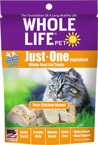 Whole Life Just One Chicken Cat Treats 3oz