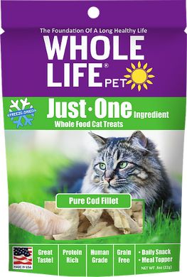 Whole Life Just One Cod Cat Treats 10oz