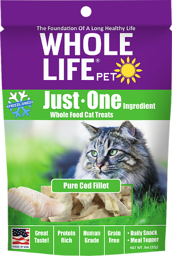 Whole Life Just One Cod Cat Treats 1oz