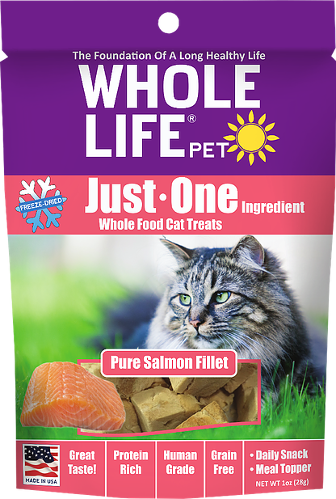 Whole Life Just One Salmon Cat Treats 10oz