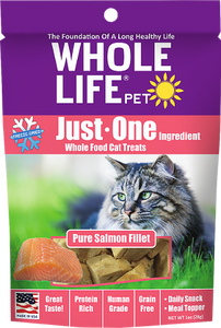 Whole Life Just One Salmon Cat Treats 1oz