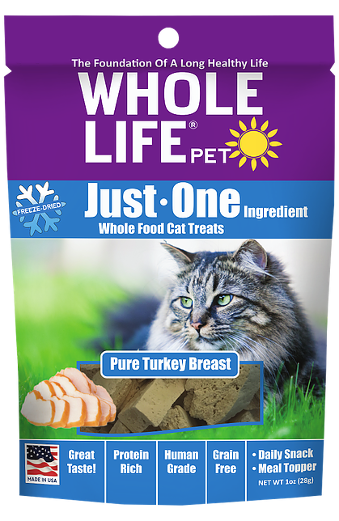 Whole Life Just One Turkey Cat Treats 10oz