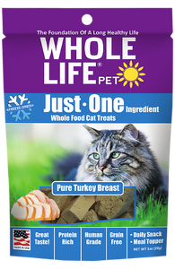 Whole Life Just One Turkey Cat Treats 4oz