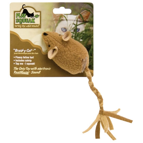 Play-n-Squeak Braid-y Cat Toy