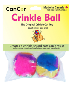 CanCor Mini Crinkle Ball 2-Pack, from Cat Supplies and More