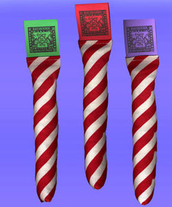 Ratherbee Christmas Candy Cane Catnip Toy
