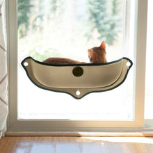 Load image into Gallery viewer, K&H EZ Mount Window Bed Kitty Sill in Tan from Cat Supplies and More