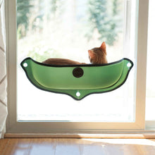 Load image into Gallery viewer, K&H EZ Mount Window Bed Kitty Sill in Green from Cat Supplies and More