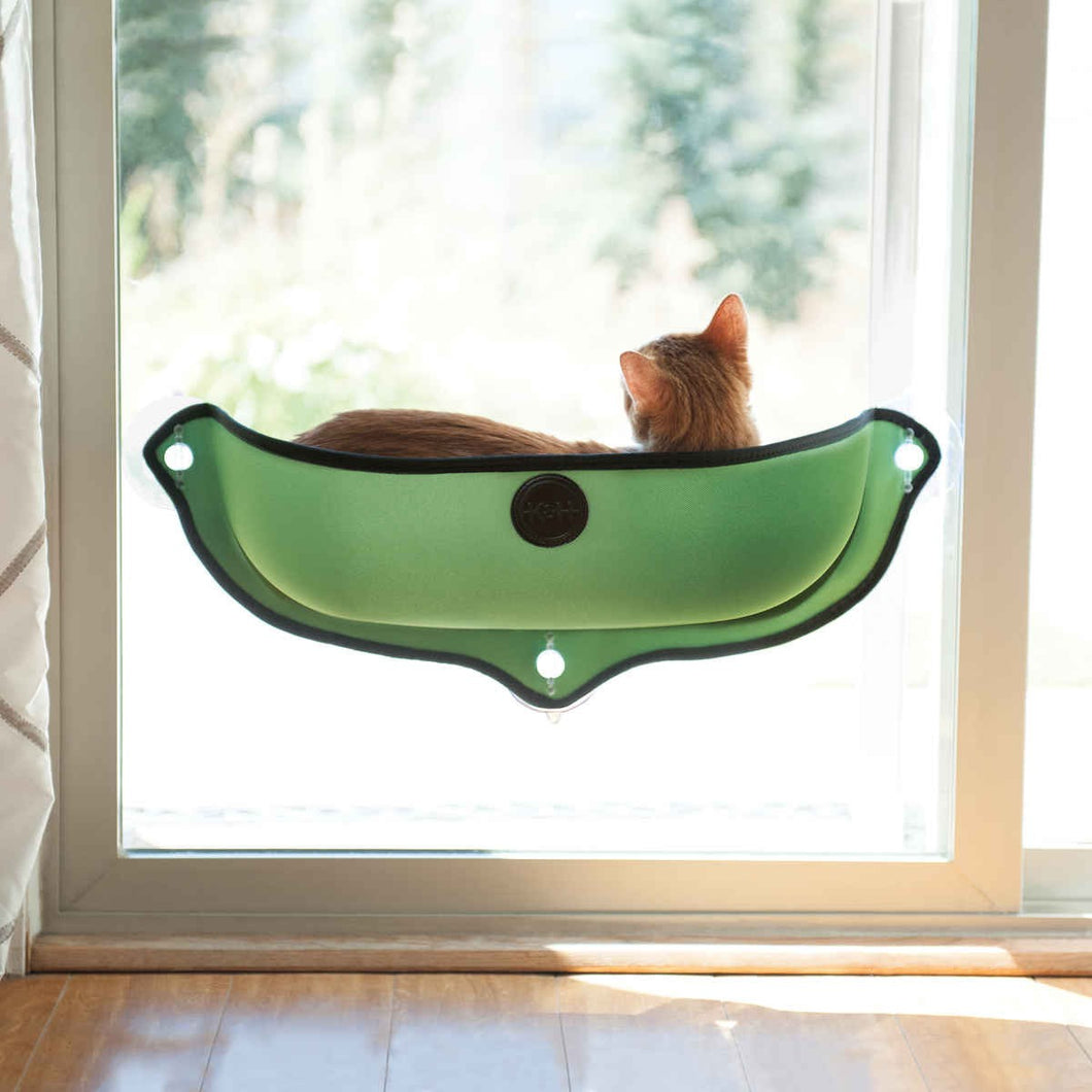 K&H EZ Mount Window Bed Kitty Sill in Green from Cat Supplies and More