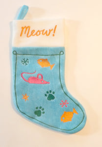 """Meow"" Holiday Cat Stocking from Cat Supplies and More"