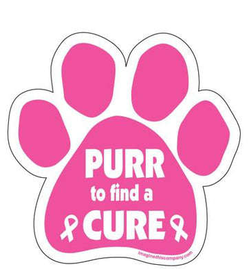 Purr to Find a Cure Magnet from Cat Supplies and More