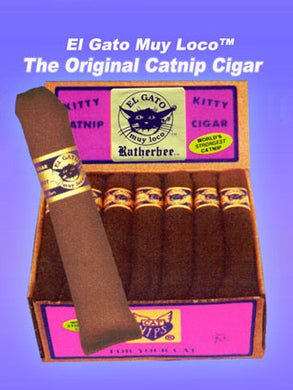 Ratherbee El Gato Catnip Cigars 27Count w/Cigar Box