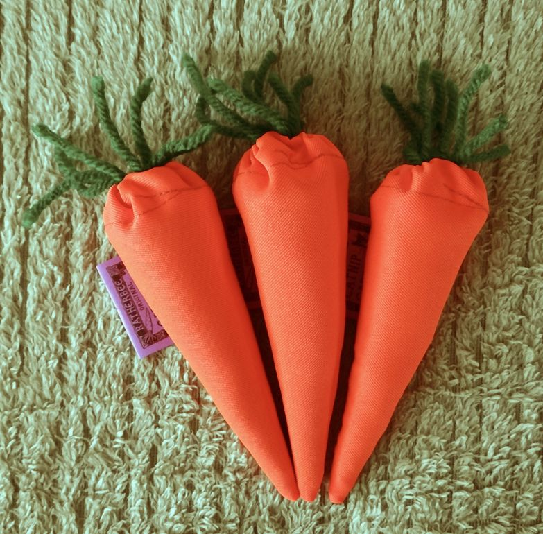 Ratherbee Carrot Catnip Toy from Cat Supplies and More