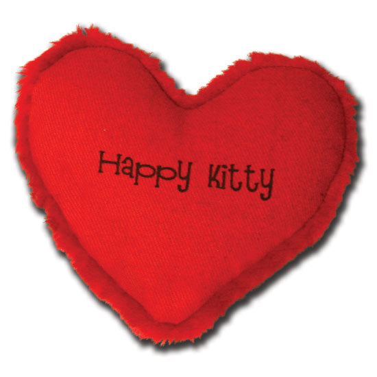 Yeowww! Happy Kitty Heart Catnip Toy - from Cat Supplies and More
