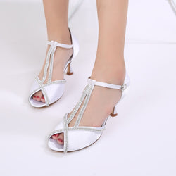 Peep Toe Stiletto Heel Buckle Heel Covering Low-Cut Upper Wedding Sandals