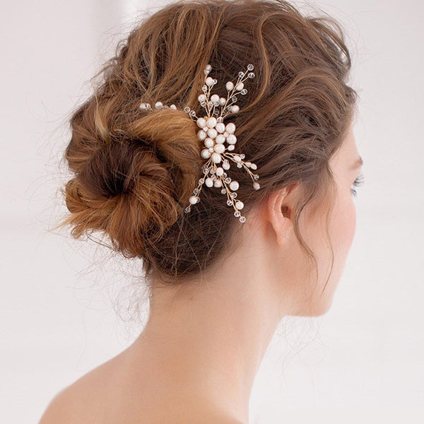 Hair Comb Floral E-Plating Hair Accessories (Wedding)