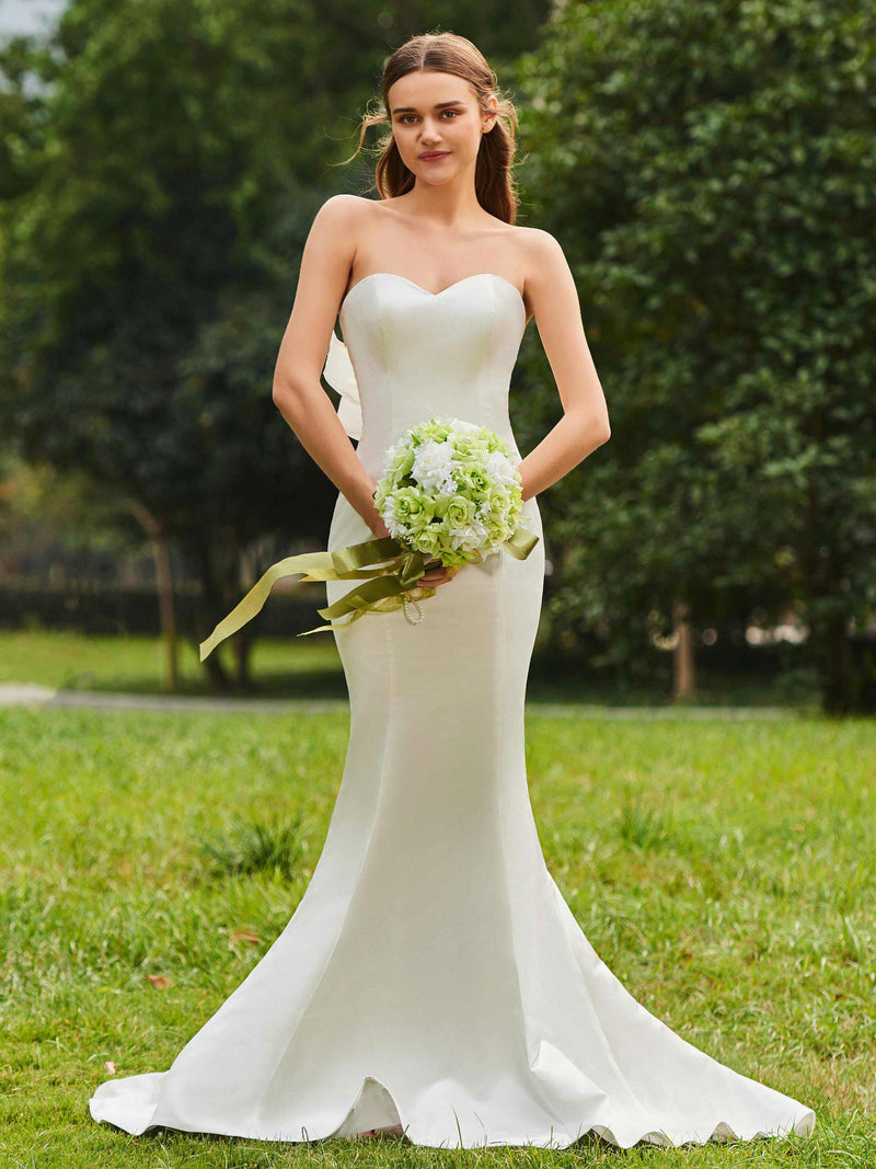 Court Floor-Length Sleeveless Trumpet/Mermaid Church Wedding Dress