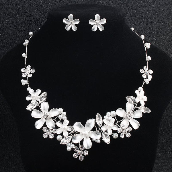 Floral European Necklace Jewelry Sets (Wedding)