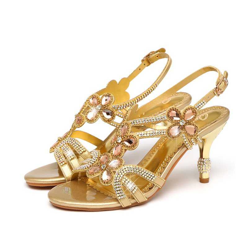 Stiletto Heel Open Toe Strappy Buckle Banquet Low-Cut Upper Sandals