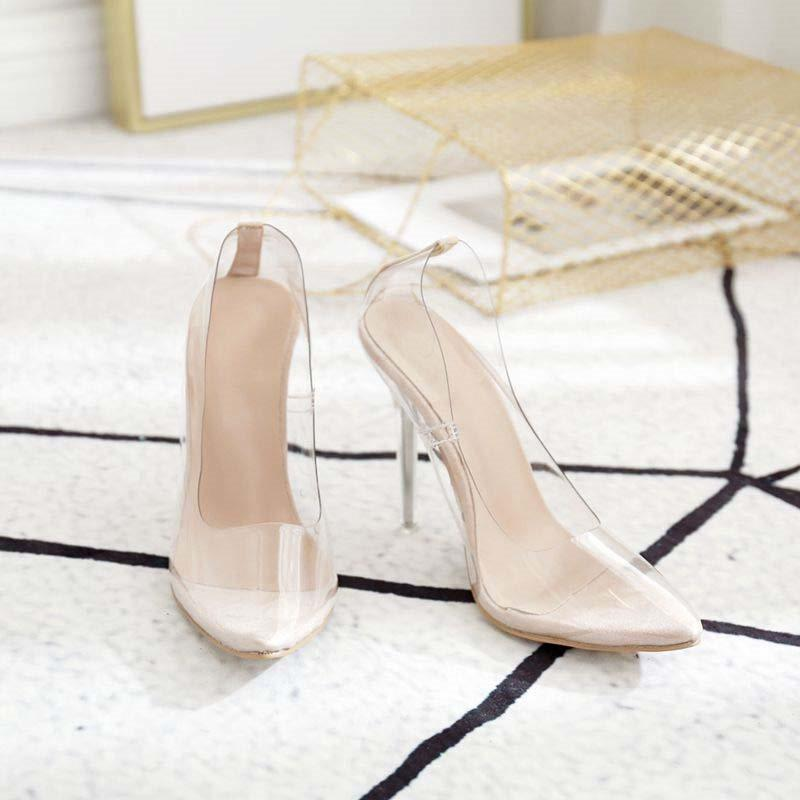 Slip-On Pointed Toe Stiletto Heel Casual Western Thin Shoes