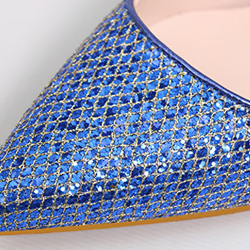 Stiletto Heel Slip-On Sequin Pointed Toe Banquet 11cm Thin Shoes