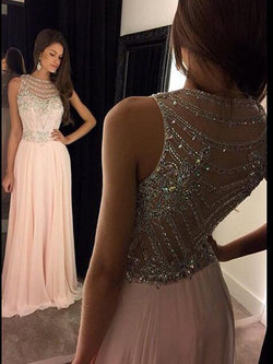 Appliques Sleeveless Sweep/Brush Floor-Length Formal Dress