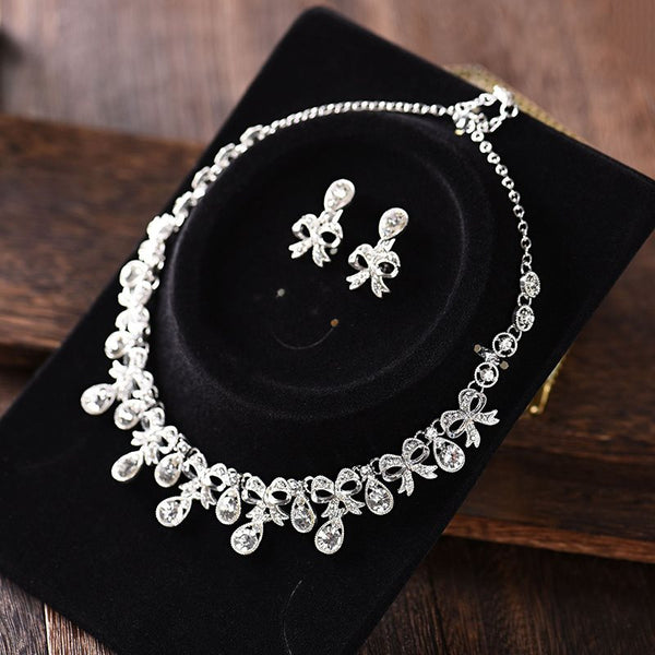Gemmed Floral European Jewelry Sets (Wedding)