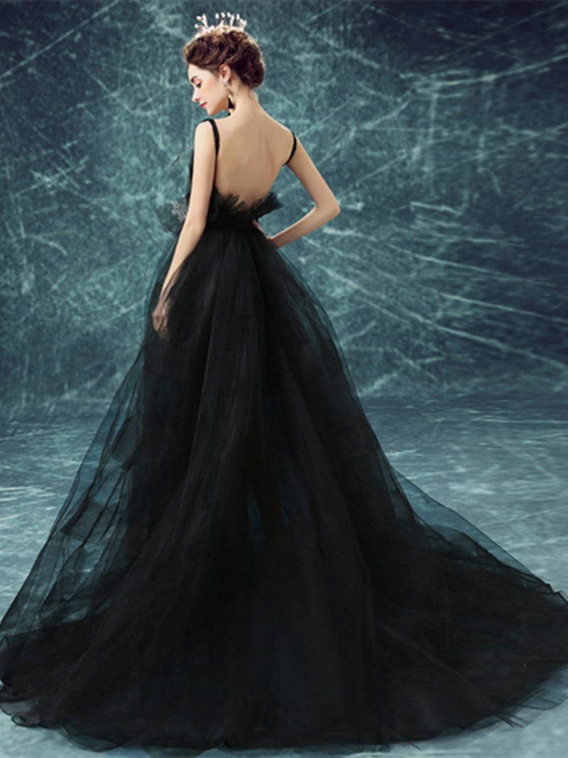 Embroidery V-Neck Sleeveless Floor-Length Quinceanera Dress