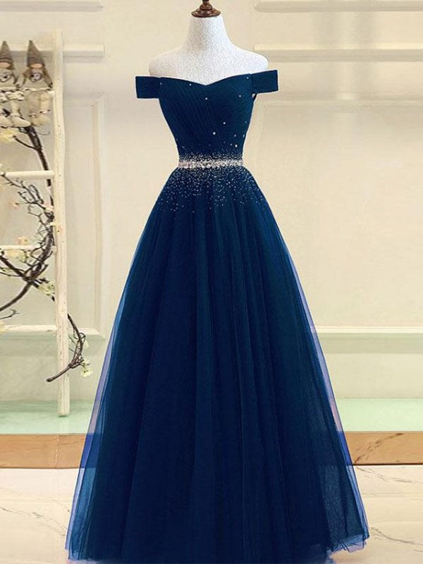 Cap Sleeves Floor-Length Sweep/Brush Ball Gown Evening Dress