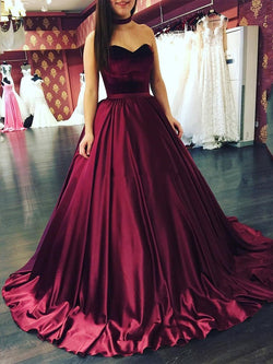 Ball Gown Court Sweetheart Floor-Length Evening Dress