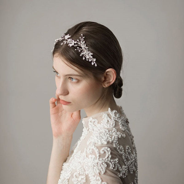 Hair Comb Diamante Leaf Hair Accessories (Wedding)