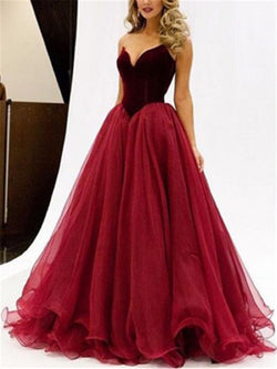 Floor-Length Sleeveless Sweetheart A-Line Prom Dress