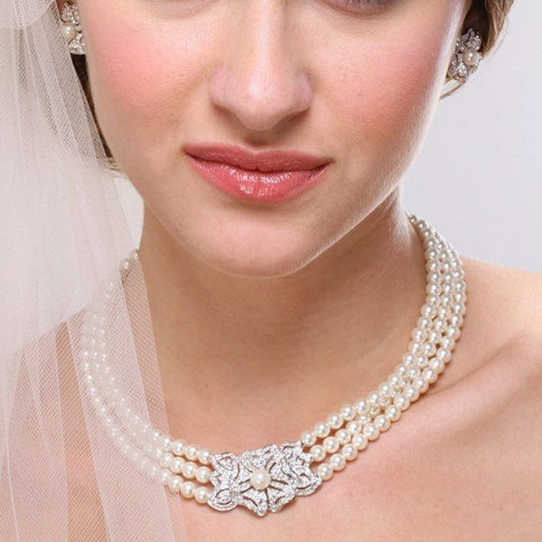 Spherical Diamante Korean Jewelry Sets (Wedding)