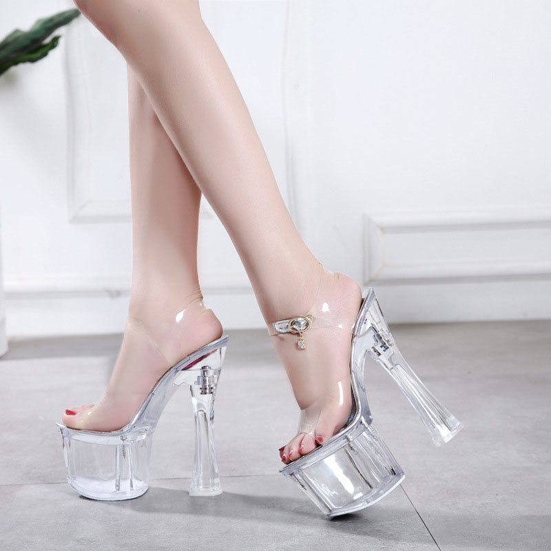 Ankle Strap Open Toe Buckle Chunky Heel Platform Low-Cut Upper Sandals