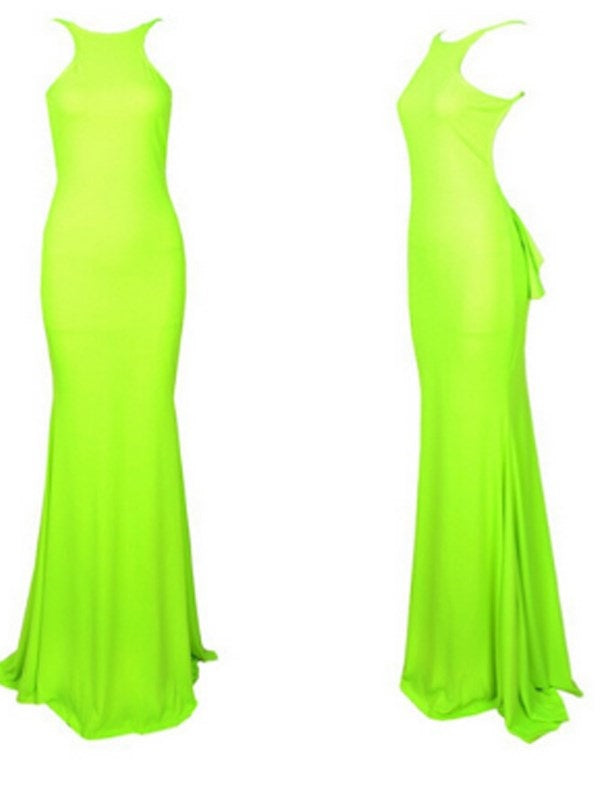 Floor-Length Sleeveless Backless Summer Mermaid Dress