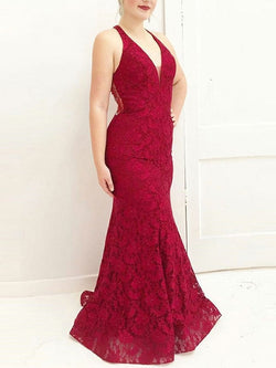 Floor-Length Sweep/Brush Sleeveless Trumpet/Mermaid Evening Dress