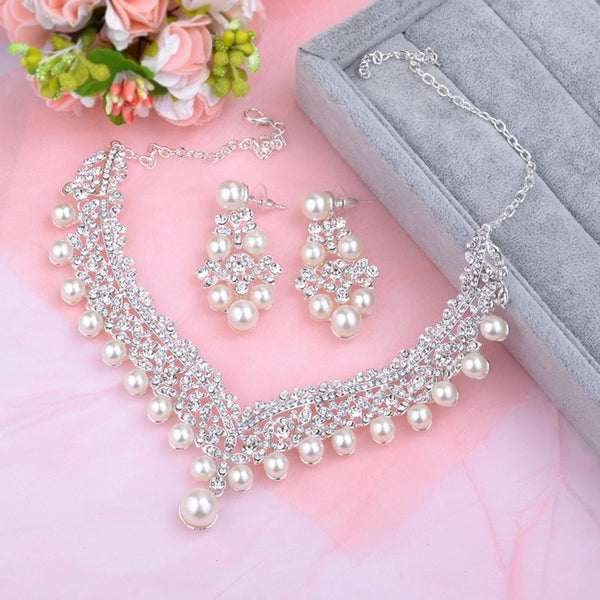 Spherical E-Plating Earrings Jewelry Sets (Wedding)