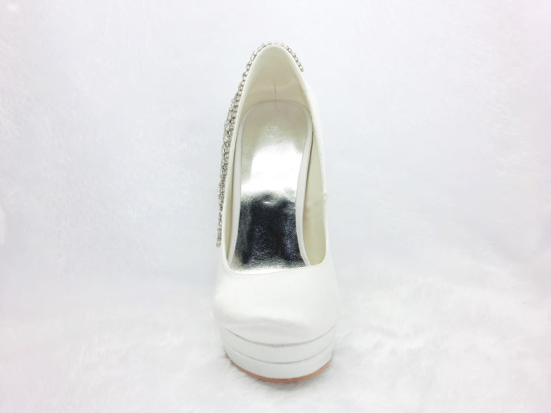 Sequin Square Toe Slip-On 13cm Banquet Thin Shoes