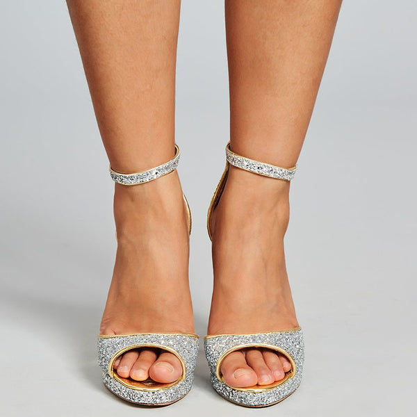 Stiletto Heel Peep Toe Buckle Wedding Princess Sandals