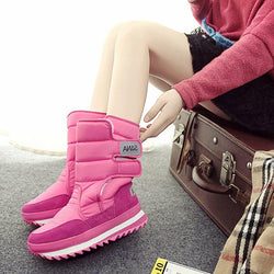 Plain Round Toe Velcro Short Floss Casual Boots