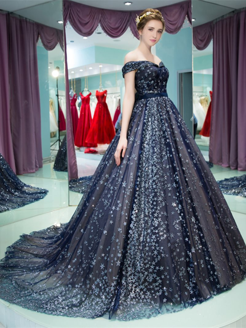 Court Floor-Length Ball Gown Off-The-Shoulder Quinceanera Dress