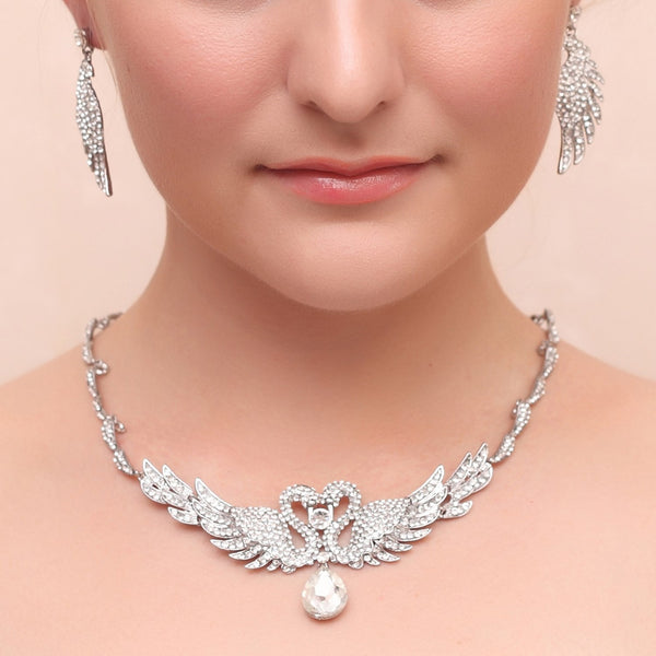 Diamante European Geometric Wedding Jewelry Sets
