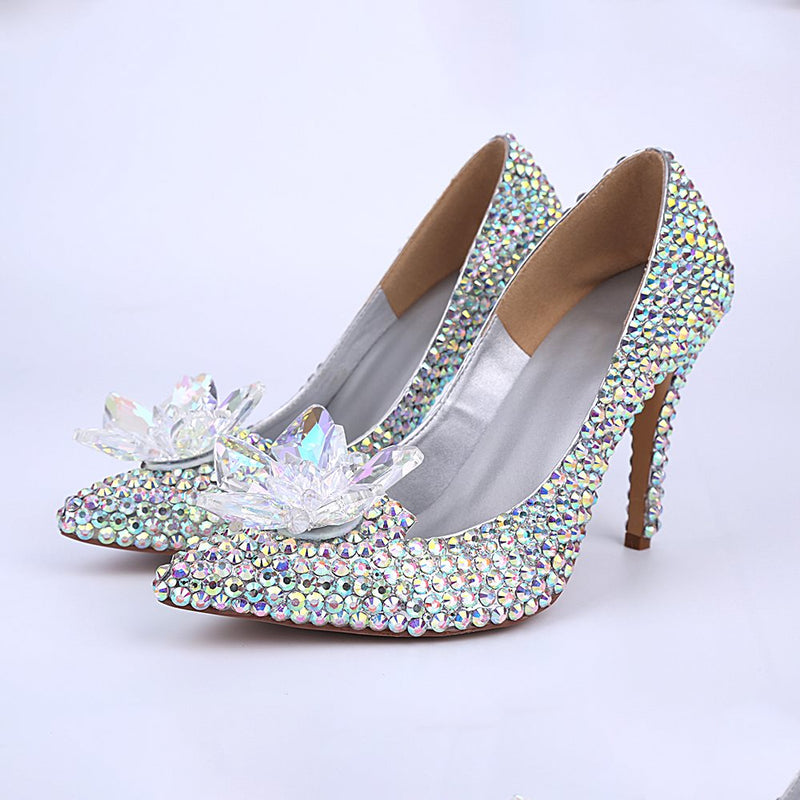 Rhinestone Slip-On Pointed Toe Western 10cm Thin Shoes