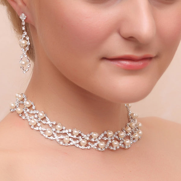 Diamante Geometric European Anniversary Jewelry Sets