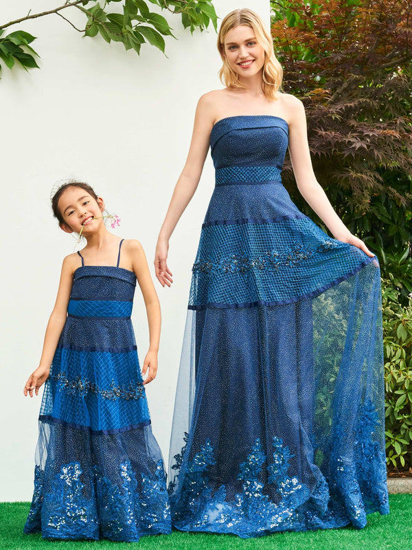 A-Line Winter Lace Floor-Length Flower Girl Dress