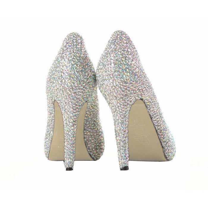 Rhinestone Closed Toe Slip-On 11cm Banquet Thin Shoes